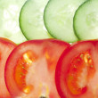 Tomato and  cucumber — Stock Photo