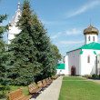 In territory of the Ukrainian monastery — Stock Photo