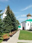 In territory of the Ukrainian monastery — Stock Photo