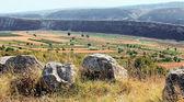 Panorama de una ciudad antigua con sobre — Foto de Stock