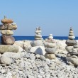 Stones on sea — Stock Photo
