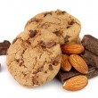 Chocolate chips with almonds — Stock Photo #7908527