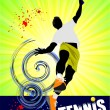 Stock Vector: Tennis player poster. Colored Vector illustration for designers