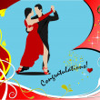 Valentine`s Day greeting card with tango dancing — Grafika wektorowa