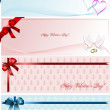 Set of foure Envelope with for Valentine`s Day. Vector. - Stock Vector