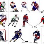 ������, ������: Ice hockey players Vector illustration