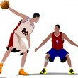 Basketball players. Vector illustration — Stock Vector #6748831