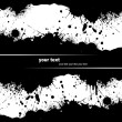 Grunge blot banner. Vector illustration for designers - Stock Vector