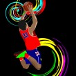 Poster of Basketball player. Colored Vector illustration for des - Stock Vector