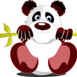 Little sitting panda. Vector illustration — Stock Vector
