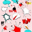 Royalty-Free Stock Vector Image: Big set of comic elements for your design