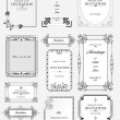 Set of ornate vector frames and ornaments with sample text. Perf - Stock Vector