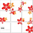 Vector Illustration geometrical mosaic pattern with flower image - Stock Vector