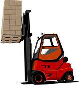 Lift truck. Forklift. Vector illustration — Stock Vector