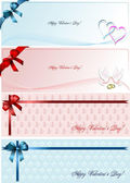 Set of foure Envelope with for Valentine`s Day. Vector. — Stock Vector