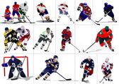 Ice hockey players. Vector illustration — Stock Vector