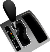 Automat gearshift . Vector illustration — Stock Vector
