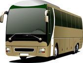 Light brown bus. Tourist coach. Vector illustration — Stock Vector