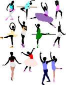 Ballet dancer in action. Vector illustration — Stock Vector