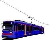 Transport de la ville. tram. illustration vectorielle — Vecteur