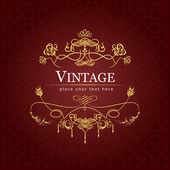 Einladung vintage-karte. hochzeit oder valentinstag. vektorillu — Stockvektor