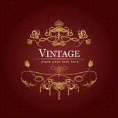 Invitation vintage card. Wedding or Valentine`s Day. Vector illu — Vetorial Stock