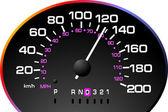 Tachimetro. accelerando il cruscotto. illustratore vettoriale — Vettoriale Stock