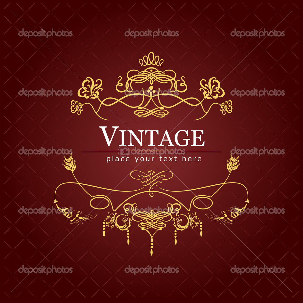 Invitation vintage card. Wedding or Valentine`s Day. Vector illustration — Stock Vector #6749189