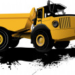 Isolated dump truck. Vector bllustration - Stock Vector