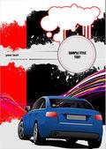 обложка для брошюры с изображениями автомобилей. векторные иллюстрации — Cтоковый вектор