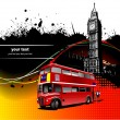 Cover for brochure with London images. Vector illustration — Stok Vektör