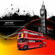 Cover for brochure with London images. Vector illustration — Векторная иллюстрация