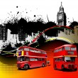 Cover for brochure with London images. Vector illustration — Imagens vectoriais em stock