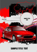 Cover for brochure with car images — Stock Vector