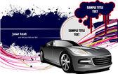 гранж-фон с изображения автомобиля. векторные иллюстрации — Cтоковый вектор