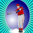 Baseball player poster. Vector illustration — Stock Vector #6822721