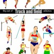 Big cet of Track and field athletes. Vector illustration. — ストックベクタ #6822755