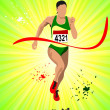Royalty-Free Stock Vector Image: Long-distance runner. Poster. Vector illustration