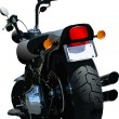 Royalty-Free Stock Vector Image: Motorcycle rear-side  view. Vector illustration