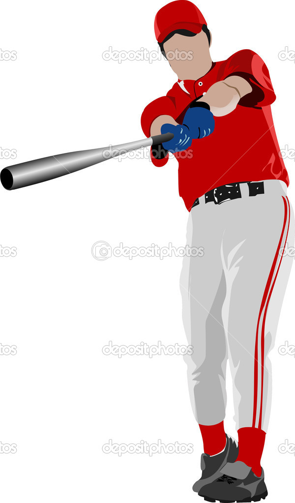 Baseball player. Vector illustration — Stock Vector #6822643