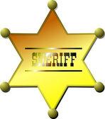 Sheriff badge — Stock Vector