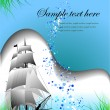 Royalty-Free Stock Vector Image: Blue marine background