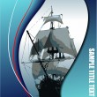Cover for brochure with old sailing vessel - Stock Vector