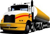 Illustration vectorielle de camion — Vecteur