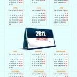 2012 calendar. Vector illustration — Stock Vector