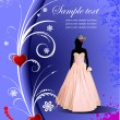 Wedding card background — Vektorgrafik