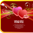 Valentine`s Day  Greeting Card — Stock Vector