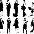 Businesswomen silhouettes — Stock Vector