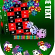 Stock Vector: Roulette table and casino elements