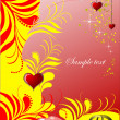 Royalty-Free Stock Vector Image: Decorative Valentine`s Day greeting card
